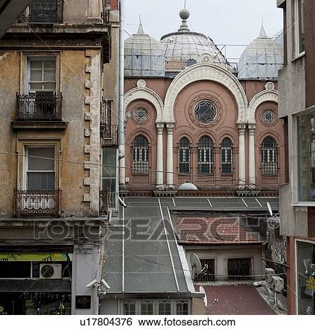 Stock Images of Neve Shalom Synagogue, Beyoglu District, Istanbul, Turkey u17...