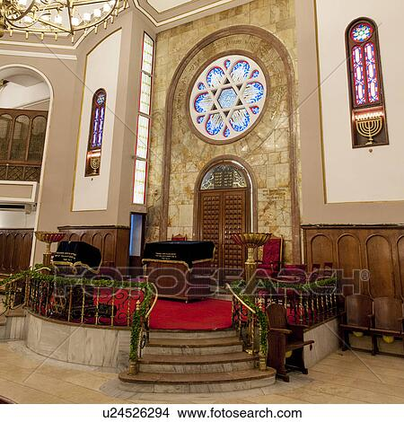 Stock Photo of Interiors of Neve Shalom Synagogue, Beyoglu District, Istanbul...