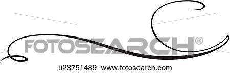 Clip Art Of Black Fancy Line U23751489