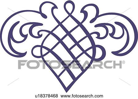 clip art of blue fancy winged design u18378468 search clipart rh fotosearch com fancy clip art border fancy clip art