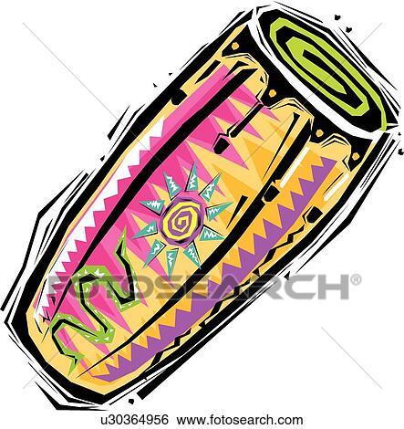Clip Art Of Conga Drums U30364956