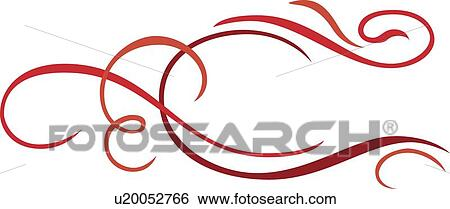 clip art of red lines and swirls u20052766 search clipart rh fotosearch com clip art swirly lines clipart swirls and curls free
