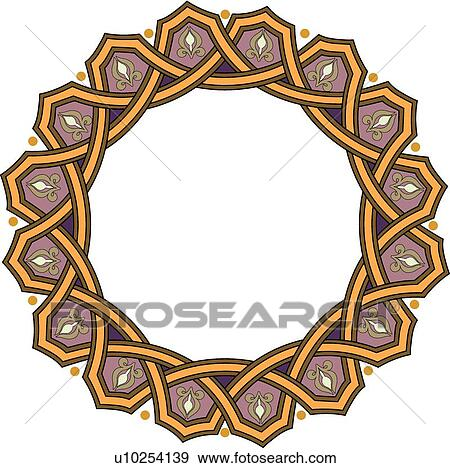 Circle Frame Clip Art Clip Art Gold Purple Circle