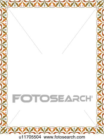 Clipart   Orange And Green Modern Border. Fotosearch   Search Clip Art,  Illustration Murals