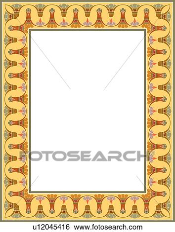 Clip Art of Aztec Border u12045416 - Search Clipart ...