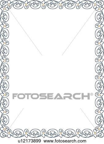 写真素材・動画素材・イラスト素材クリップアート - 青, 渦巻, 線, ボーダー