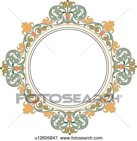 Circle Frame Clip Art Clip Art Round Frame With