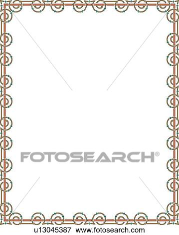 Clip Art   Orange And Green Modern Border. Fotosearch   Search Clipart,  Illustration Posters