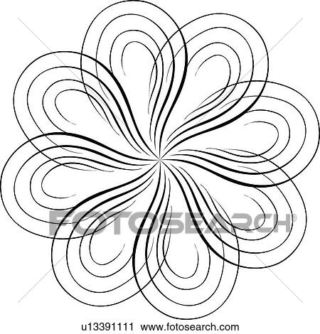 Clipart Of Calligraphic Design Of Proportional Curved