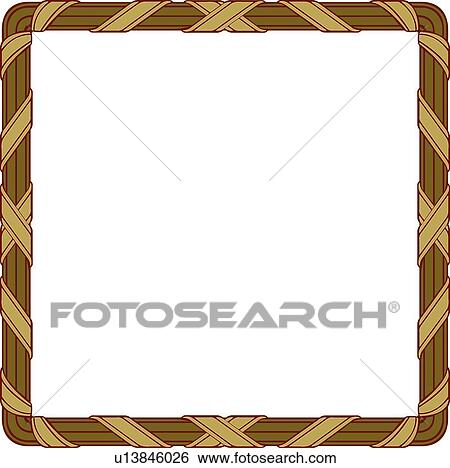 square brown frame