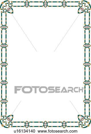 Clipart of Aztec Border u16134140 - Search Clip Art ...