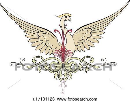 Phoenix bird Clipart and Illustration. 1,380 phoenix bird clip art ...