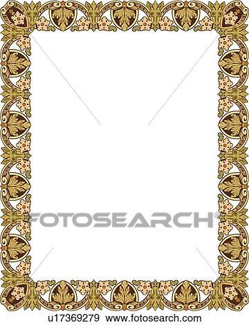 Gold Victorian Border Clip Art