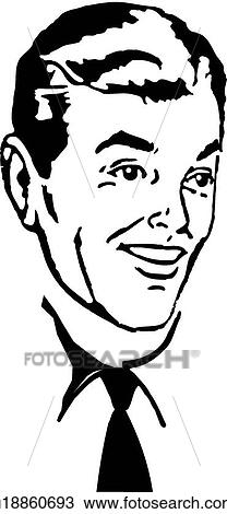 Smiling man with shirt and tie View Large Clip Art GraphicSmiling Man Clipart
