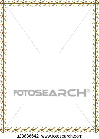 Clipart   Gold Modern Border. Fotosearch   Search Clip Art, Illustration  Murals, Drawings