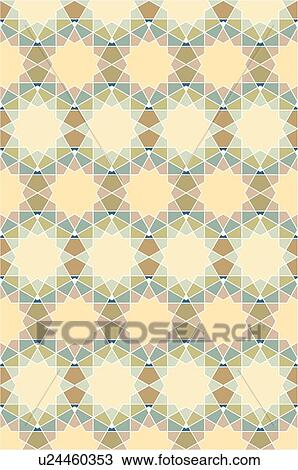 Clipart of Star peach teal background pattern u24460353 ...