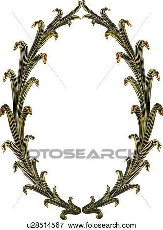 Leaf Wreath Clip Art