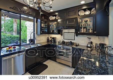 Stockfotografering   lille, hjem, luksus, køkken u30952391   søg i ...