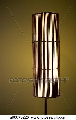 Stock Image of Detail contemporary floor lamp; San Diego; California ...