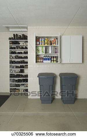 Stock Images Of GARAGE STORAGE Clean Storage Shelves And Cabinets