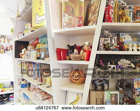 Knick Knacks On Shelves; Taipei; Taiwan