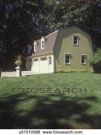 Pictures Of Outbuildings Garages Yellow Dutch Colonial