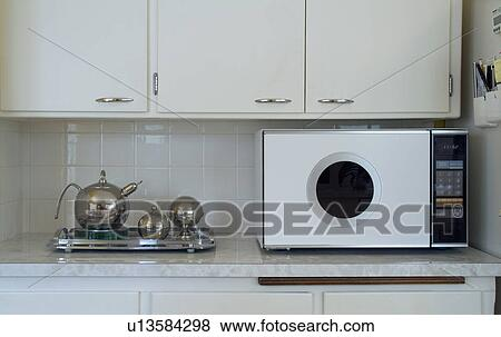 Pictures Of Retro Microwave On Countertop In Kitchen