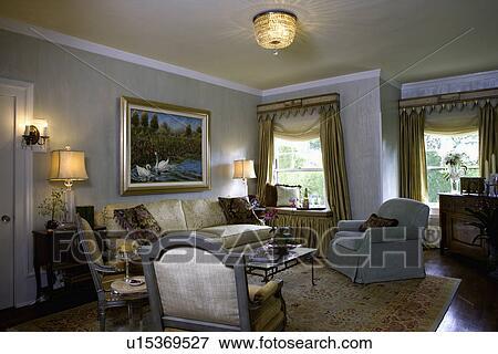 bild lebende rooms traditionelle sitzen bereiche besondere glasur gem lde liebe. Black Bedroom Furniture Sets. Home Design Ideas