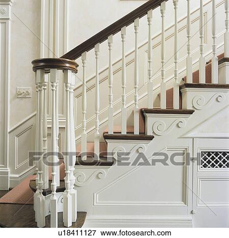 Picture   STAIRWAYS: Close Up Of Classic Georgian Style Banister And  Decorative Risers, Carpet