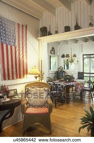 stock photo of eating areas summer country home dining