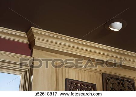 Picture Of Architectural Trim Dark Brown Painted Ceiling