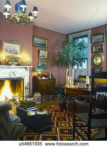 stock bild wohnzimmer amerikanisch 19 jahrhundert haus und einrichtung collections. Black Bedroom Furniture Sets. Home Design Ideas