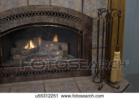 Stock Photography Of Fireplaces Hammered Copper Fireplace Surround Tile Copper Look Tools
