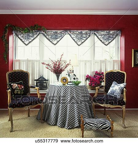 Stock Photograph Of Living Rooms Red Walls Black And