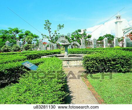 Stock Photography   Micronesia, Tropical, Outdoors, Scenery, Garden,  Fountain. Fotosearch
