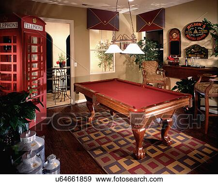 Stock Photograph   Area Rug Beneath Pool Table. Fotosearch   Search Stock  Photography, Posters