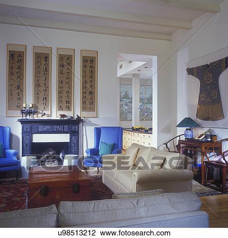 Archivio fotografico soggiorno con cinese antichit for Casa tradizionale cinese