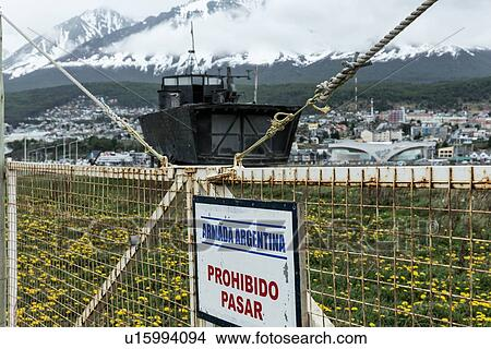 Stock Photo of Ships and shipwrecks in Ushuaia harbour, Argentina ...