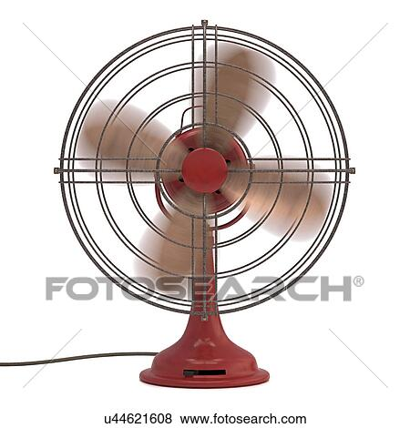 "Stock Illustration of ""Antique fan, illustration ..."