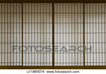 Stock Photo - Image of Japanese Paper Panel Doors. Fotosearch - Search Stock Images & Stock Photo of Image of Japanese Paper Panel Doors u11864074 ... pezcame.com