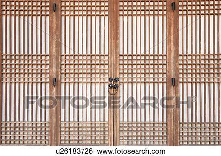 Stock Image - door handle traditional korean style house tradition culture lattice  sc 1 st  Fotosearch & Stock Images of door handle traditional korean style house ...