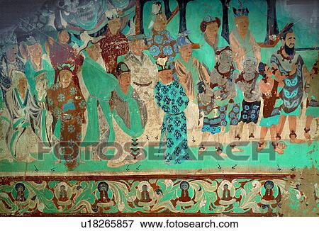 Picture of painting of foreign princes in tang dynasty for Dynasty mural works