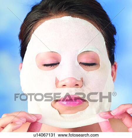 Stock fotografie gesicht asiatische einholen schoenheit mädchen