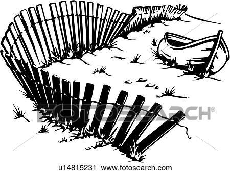 Line Art Clipart : Clipart of illustration lineart boat beach nautical marine