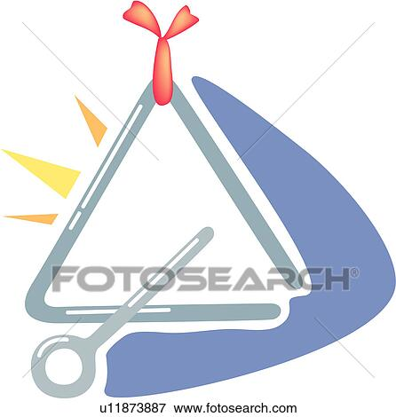 Clip Art of instrument, triangle, percussion instrument ...