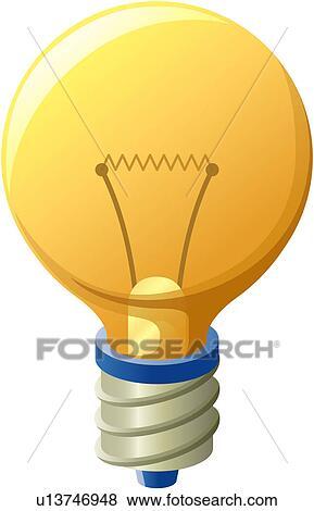 Clipart - id, lumière, ampoule, electricbulb, toile u13746948 ...