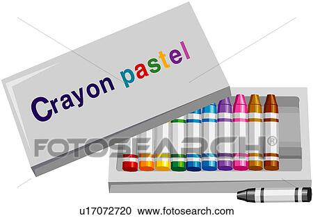 clipart crayon pastel fournitures gros plan quipement ustensile peinture u17072720. Black Bedroom Furniture Sets. Home Design Ideas