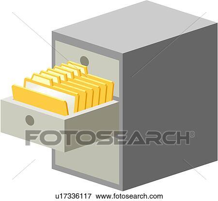 Clip Art of file, document, storage, filing, cabinet, folder ...