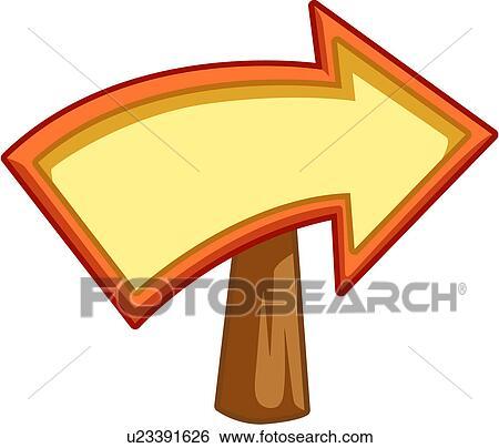 Clipart - marque, toile, logo, direction, flèche, icône u23391626 ...