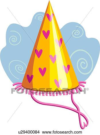 Clipart Of Party Hat Birthday Pary Favors